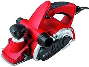 """Einhell Rabot électrique TE-PL 850 """"SoftGrip"""" (850 W, Profondeur de feuillure 18 mm, Prise en main sûre et confortable, Livré avec une butée parallèle, une butée de profondeur, un fer CT)"""