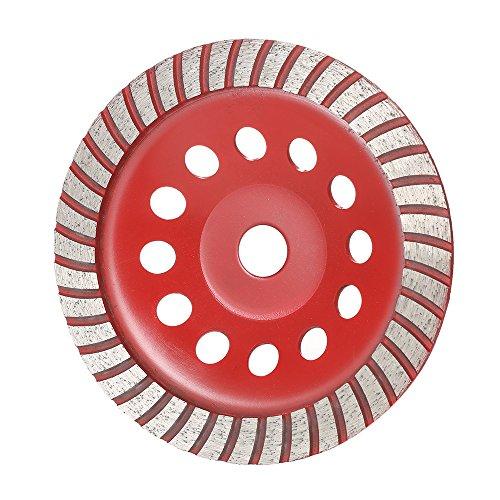 KKmoon 180mm 7 Diamant Segment Schleifscheibe Disc Schüssel Form Grinder Tasse 22mm Innenloch für Beton Granit Stein Keramik Keramik Terrazzo Marmor Bauindustrie