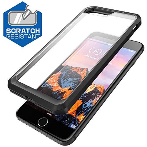 iPhone 7 Plus Hülle, iPhone 8 Plus Hülle, Supcase Unicorn Beetle Schutzhülle Premium Schale Case Transparente Handyhülle für Apple iPhone 7 Plus / iPhone 8 Plus, Frost/Schwarz frost/schwarz