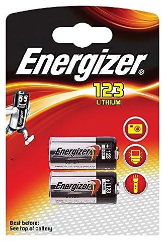 ENERGIZER Lot de 8 Blisters de 2 Piles Lithium CR123 A 3V