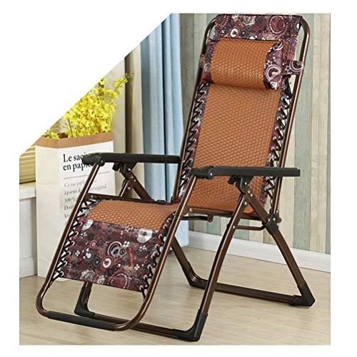 GJY Vintage PE Vine Schwerelosigkeit Stuhl, tragbare Camping Liege, Klapp Lounge Liege, Brown Patio Chaise Liege für Außenpool-orange