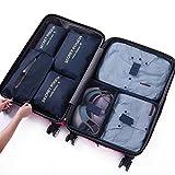 84f057a3b562c DoGeek- 7 en 1 Set de Organizador de Equipaje Perfecto para Viaje con Bolsa  de