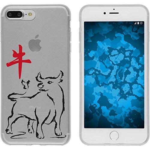 PhoneNatic Case für Apple iPhone 7 Plus Silikon-Hülle Tierkreis Chinesisch M9 Case iPhone 7 Plus Tasche + 2 Schutzfolien Motiv 02