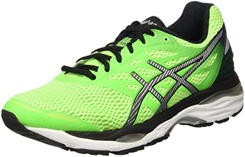 Asics Gel-cumulus 18, Herren Laufschuhe, Grün (Green Gecko/Silver/safety Yellow), 42 EU (7.5 UK)