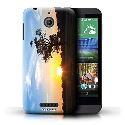 Kobalt® Imprimé Etui / Coque pour HTC Desire 510 / plage conception / Série Coucher du Soleil Bleu Chêne