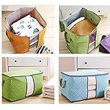 Quner Aufbewahrungsboxen aus Stoff, faltbar, 5 x 25 x 17 cm, Aufbewahrungskorb aus Leinwand mit Griffen aus Baumwolle für die Aufbewahrung von Platz.