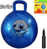 Space Hopper Ball: Blue, 18-inch/45cm Diameter for Ages 3-6, Pump Included (Hop Ball, Kangaroo Bouncer, Hoppity Hop, Sit and Bounce, Jumping Ball)