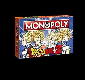Winning Moves Monopoly Dragon Ball Z Edition para Fans. La Saga Alrededor Son Goku, Trunks, Vegetariano y Son Gohan. Familia de | Sociedad Parte | Parte | Tabla Juego clásico |