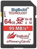 BigBuild Technology 64 Go UHS-I U3 95Mo/s Carte mémoire pour Panasonic Lumix DMC...