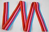 Gummiband mit Multi Streifen, 40mm, Elastisch, Nähen,