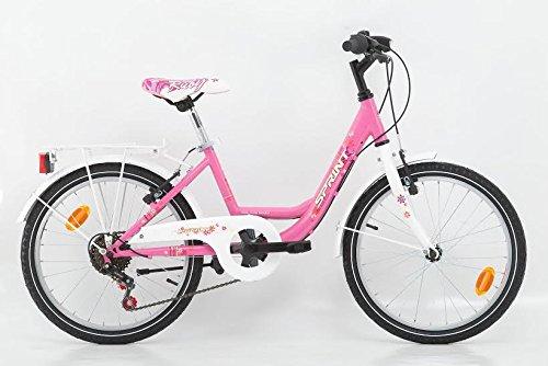 20 Zoll Kinderfahrrad Cityfahrrad Mädchenfahrrad Kinder City Fahrrad Citybike Starlet Pinkweiss