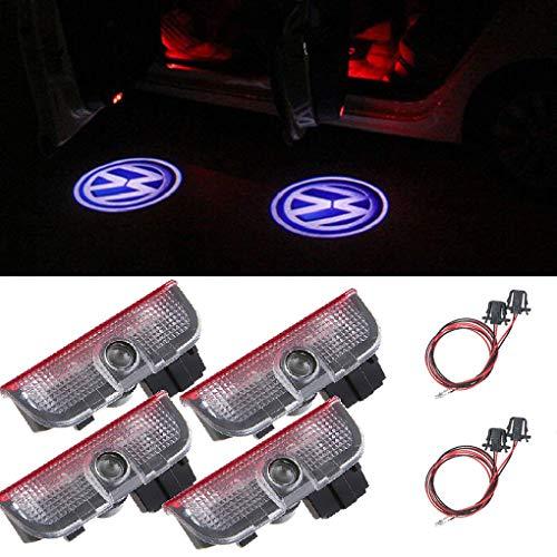 4 Stück Auto LOGO Projektor LED Türlicht Willkommen Licht Türbeleuchtung