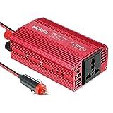 MILOOL 300W Convertisseur Transformateur 12V 220V convertisseur Chargeur allume-cigare avec 2 ports USB 2.4A pour Ordinateur Portable, Tablette, Smartphone et autres Appareils Electroménagers et Electriques