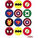 40 x Pre Cut super hero para tartas, cupcakes/decoraciones comestibles Wafer Papel