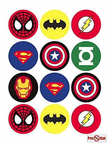 Hero Kuchen, Cupcake Topper/Dekoration Essbar Wafer Papier (Backen Geburtstag Party-orte)
