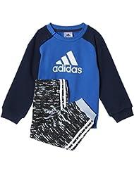 adidas I St Terry Jogg Chándal, Niños, Azul (Azul / Maruni / Blanco), 98