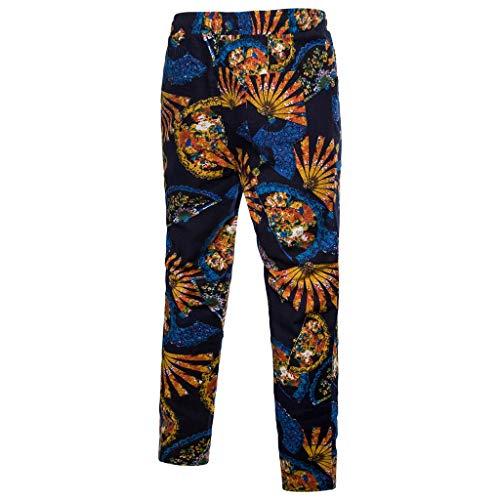 361c7a8861b5 Dragon868 Pantaloni Uomo Cotone Lino Brasiliana Drawstring Slim Fit metà  Vita Elastico Sweatpants Elegante Taglie Forti