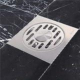 Edelstahl Anti-Verstopfung Bodenablauf, Dusche Wanne gebürstet Abfluss Snare mit abnehmbarem Rost, Badezimmer Anti-Geruch Haarfänger Einsatz, leicht zu reinigen Sieb Abdeckungen, für Stand-Waschraum