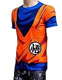 Brinny Hommes 3D T-shirt Classique Anime Dragon Ball Z Super Saiyan 3D T-shirt T-shirt de bande dessinée Vegeta Armour T,1 4XL...