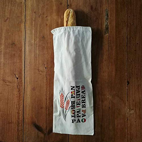 Fun Fan Line® - Set Bolsas de Pan Baguette Reutilizables de algodón con Diseño Exclusivo (Unidad)
