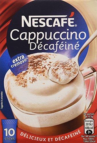 Nescafé Gold Typ Cappuccino Entkoffeiniert, Löslicher Bohnenkaffee, Instantkaffee, 10 Portionen,...