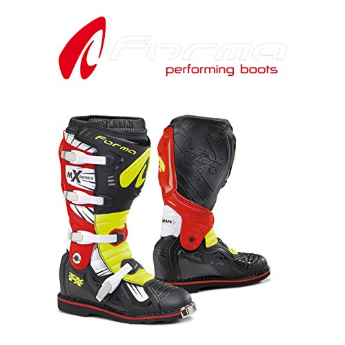 Stiefel Gelenk Cross Enduro Form Terrain TX schwarz rot gelb Mist mit Gelenk-Größe 44 Terrain Stiefel