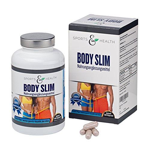 *Body Slim – endlich schlank – 180 Kapseln – Appetitzügler – abnehmen mit Tabletten – Abnehmen mit Glucomannan und Acai – Erfolg Belegt – Abnehmpillen – Made in Germany – Appetithemmer*