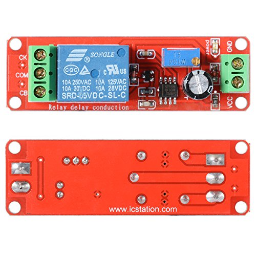 XCSOURCE® 5X 12V Verzögerungs-Timer NE555 Monotabiles Schaltrelais Modul Einstellbar Arduino TE155