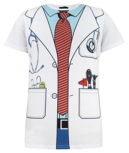 Funny World Herren Arzt Doktor Kostüm T-Shirts (XL, (Arzt Männer Für Kostüme)