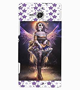 ColourCraft Lovely Angel Design Back Case Cover for SONY XPERIA SP
