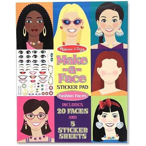 Make-a-face Sticker Pad: Fashion Faces