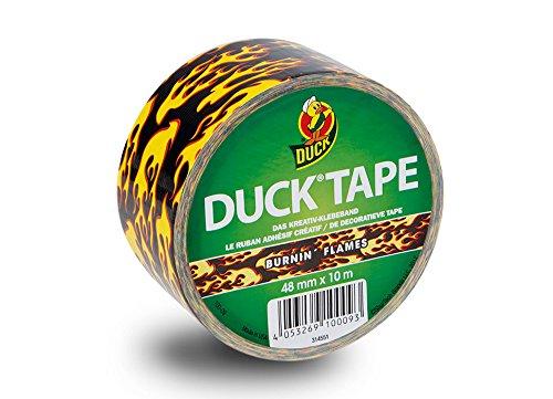 Duck Tape 189158 Gewebeband, 48 mm x 9,1 m, Flammen