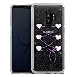 DeinDesign Samsung Galaxy S9 Plus Bumper Hülle silber transparent Bumper Case Schutzhülle Glitzer Look Dirndl ohne Hintergrund Oktoberfest