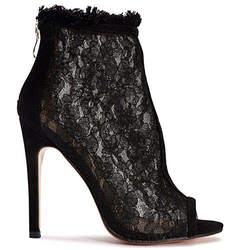 Shoesdays ,  Damen Peep Toes Schwarz