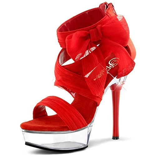 Heels-Perfect , Sandales pour femme Rot (Rot)