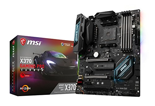 MSI X370 GAMING PRO CARBON - Placa Base Performance (AMD AM4 Chipset X370, Mystic Light, DDR4 Boost, Steel Armor, Intel LAN, Audio Boost 4, M.2 Shield, VR Ready, Military Class V)