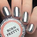 Born Pretty 1g/box Nagel Pigment Mirror Powder Nail Glitzer Spiegel Effekt Pulver Glitter Silber RH833