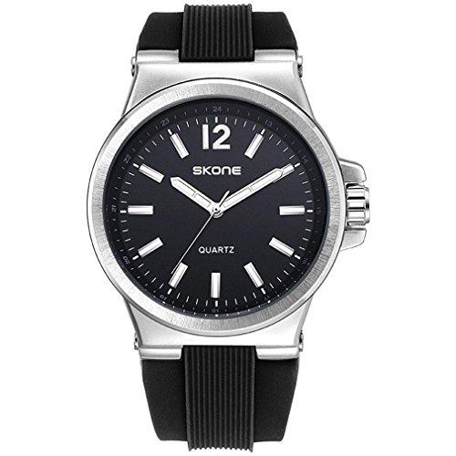 ORT Herren-Quarzuhr multifunktionale leuchtenRUDE Silikonband wasserdichte Uhr, 003