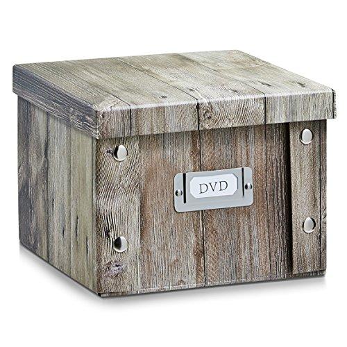 Zeller 17866 - contenitore per dvd, in finto legno