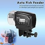 tradeshoptraesio®–Dosificador dispensador comida peces con temporizador Pantalla LCD para Acuario automático