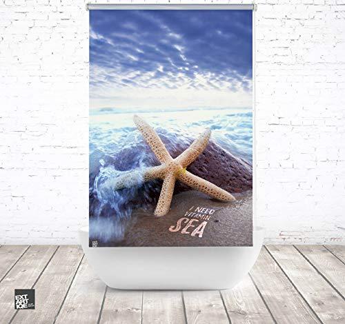 ERSATZ KLEINE Wolke Duschrollo für Leerkassette Vitamin sea seestern Textil Badewanne