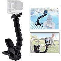 Mcoplus accessori Jaws Flex morsetto Mount Con Giunto 8braccio a collo d' oca regolabile maniglia monopiede per fotocamera sportiva Hero 1/2/3/3+/4SJ4000/SJ5000/SJ6000