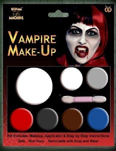 Davies 11583Halloween Vampire Make-up Paint Dekoration Set (Schwarz Und Weiß Halloween Gesicht Malen)