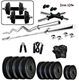 #6: 30Kg Weight Plates, 5Ft Rod, 3Ft Rod, 2 D.Rods Home Gym Dumbell Set