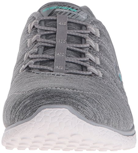 Skechers Microburst On The Edge Womens Slip On Shoes Gris