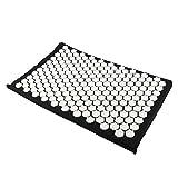 Homyl Akupressur-Set Akupressur- und Massagematte zur effektiven Lockerung und Lösung von Verspannungen 66x40cm - Schwarz