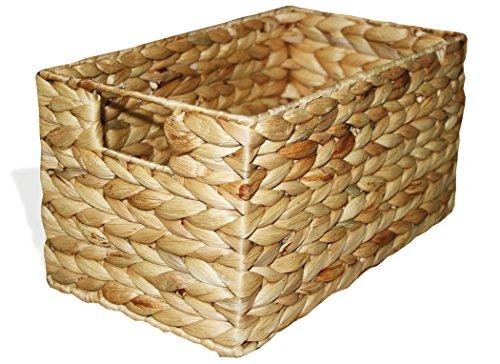 """KMH®, Praktische Korb-Box """"Hidalgo"""" aus geflochtener Wasserhyazinthe (#204035)"""