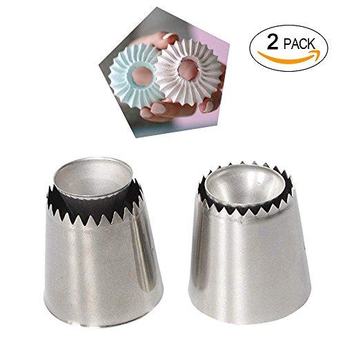 Lunivor Sultan Ring Cookies Form Backen Piping Düsen Set Russische Düsen Icing Kuchen Dekorieren Gebäck Spitze Küche Geschenk 2 pcs (STL A+B)