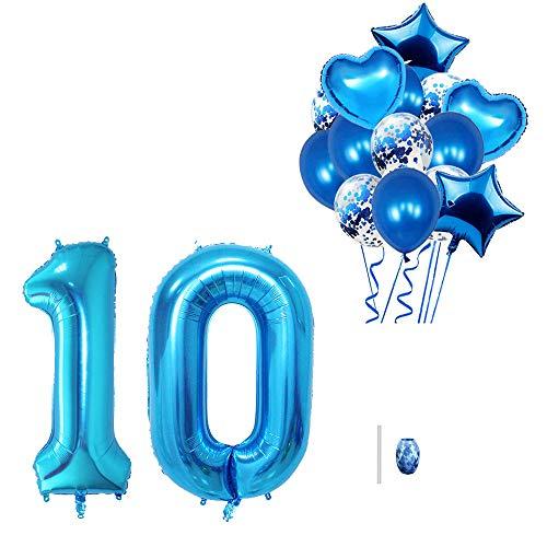 Huture palloncini da 40 pollici numero 10 palloncino foil 18