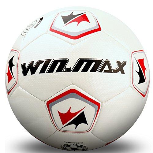 WIN.MAX Fußball, Traditionell Spielball Trainingsball, Sondermodell, Größe 4, Geeignet für Futsal-Felder innen und außen (Ohne Luftpumpe)